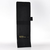 LD24C Genuine Leather Carrying Case with Pen Holder (Black) 3.5 x5