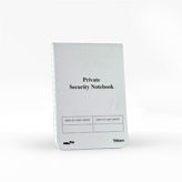 L-PSNAT09 Private Security Evidence Notebook 3.5 X 5